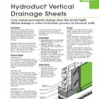 Hydroduct Vertical Technical Data