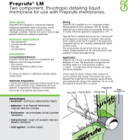 Preprufe LM Technical Data