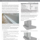 Construction Joint Waterproofing : Newton Flexproof-X1 Technical Data