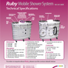 Ruby Mobile Shower System