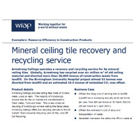 Wrap: Resource Efficiency in Construction Products : Armstrong Recovery & Recycling Service