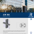 CW50 Curtain Walling and Rooflight System