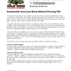 Sustainable American Black Walnut Flooring Specification