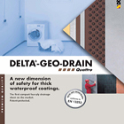 Delta Geo Drain Quattro - External drainage and protection membrane