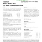Koster Repair Mortar Plus