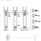 Series AP100 Acoustic Operable Wall 1-Point Suspension Stacking Drawing