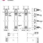 Series AP100 Acoustic Operable Wall 2-Point Suspension Stacking Drawing
