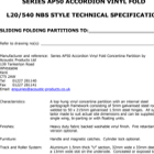 Series AP50 Accordion Concertina Folding Partition Systems Specification