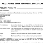 Topakustik Acoustic Panels Specification