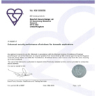 BBA Advanced Plus BS7950 Licence