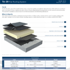 TA-20 Flat Roofing System Technical Data