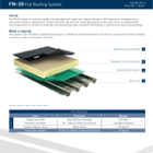 FM-20 Flat Roofing System Technical Data
