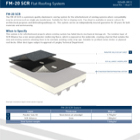 FM-20 SCR Flat Roofing System Technical Data