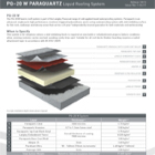 PQ-20 W Paraquartz Liquid Roofing System Technical Data