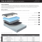 PMA-20 INVERTED Flat Roofing System Technical Data