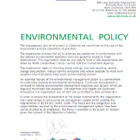 Celuform Environmental Policy