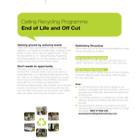 End of Life and Off Cut Recycling Brochure