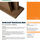 Earthwool® RainScreen Slabs Technical Data