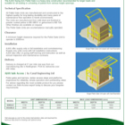 AJAX Swing Arm Pallet Gate Technical Sheet