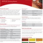 EPIFLEX Jointing Mastic Technical Data