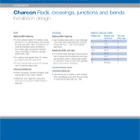 Charcon Radii, crossings, junctions and bends Installation design