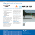 Charcon Academy flag paving