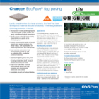 Charcon EcoPave® flag paving