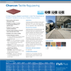 Charcon Tactile flag paving