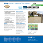 Charcon StoneMaster® flag paving