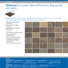 Charcon European Natural Porphyry flag paving and setts