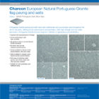 Charcon European Natural Portuguese Granite flag paving and setts Portuguese Dark Silver Grey