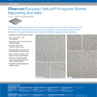 Charcon European Natural Portuguese Granite flag paving and setts Portuguese Pink