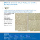 Charcon European Natural Portuguese Granite flag paving and setts Portuguese Yellow