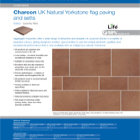 Charcon UK Natural Yorkstone flag paving and setts Colour -Lazenby Red