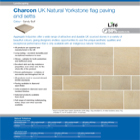 Charcon UK Natural Yorkstone flag paving and setts Colour -Sandy Buff