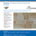 Charcon UK Natural Yorkstone flag paving and setts Colour -Willow Buff