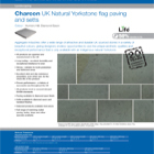 Charcon UK Natural Yorkstone flag paving and setts Colour -Hunters Hill, Diamond Sawn