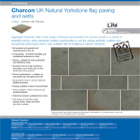 Charcon UK Natural Yorkstone flag paving and setts Colour -Hunters Hill, Flamed