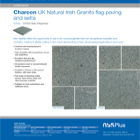Charcon UK Natural Irish Granite flag paving and setts Colour -G4010 Mourne