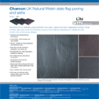 Charcon UK Natural Welsh slate flag paving and setts Colour -Mix