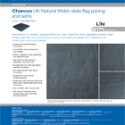 Charcon UK Natural Welsh slate flag paving and setts Colour -Dark Blue Grey