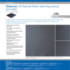 Charcon UK Natural Welsh slate flag paving and setts Colour -Heather Blue