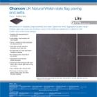 Charcon UK Natural Welsh slate flag paving and setts Colour -Heather Grey