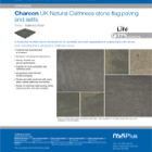 Charcon UK Natural Caithness stone flag paving and setts Colour -Caithness Riven