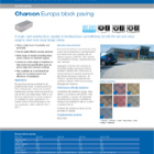 Charcon Europa block paving