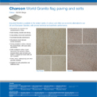 Charcon World Granite flag paving and setts Colour -G2040 Beige
