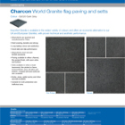 Charcon World Granite flag paving and setts Colour - G2020 Dark Grey