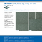 Charcon World Granite flag paving and setts Colour - G2080 Green-Grey