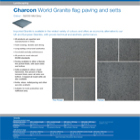 Charcon World Granite flag paving and setts Colour - G2030 Mid Grey