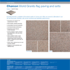 Charcon World Granite flag paving and setts Colour - G2070 Red